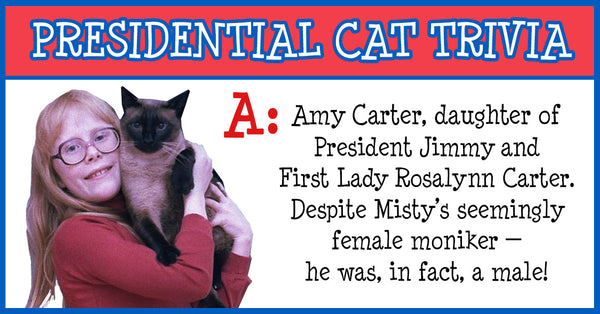 Amy Carter, daughter of President Jimmy and Rosalynn Carter. Despite Misty's seemingly female moniker — he was, in fact, a male!