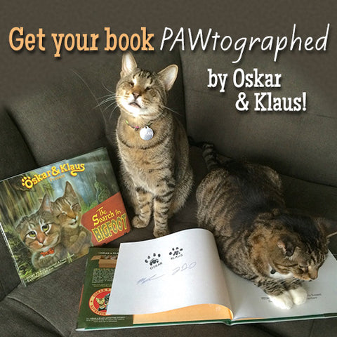 Get your book PAWtographed by Oskar & Klaus!