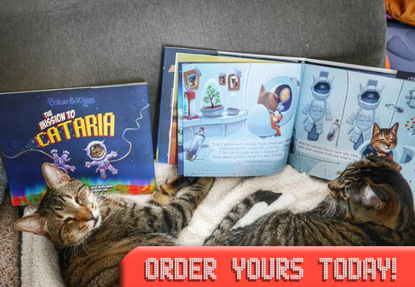 "Image of Oskar & Klaus reading the new book! Click to ""Order Yours Today!"""