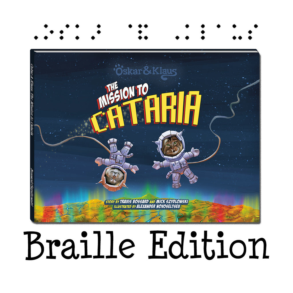 Braille Edition Oskar & Klaus: The Mission to Cataria - Book