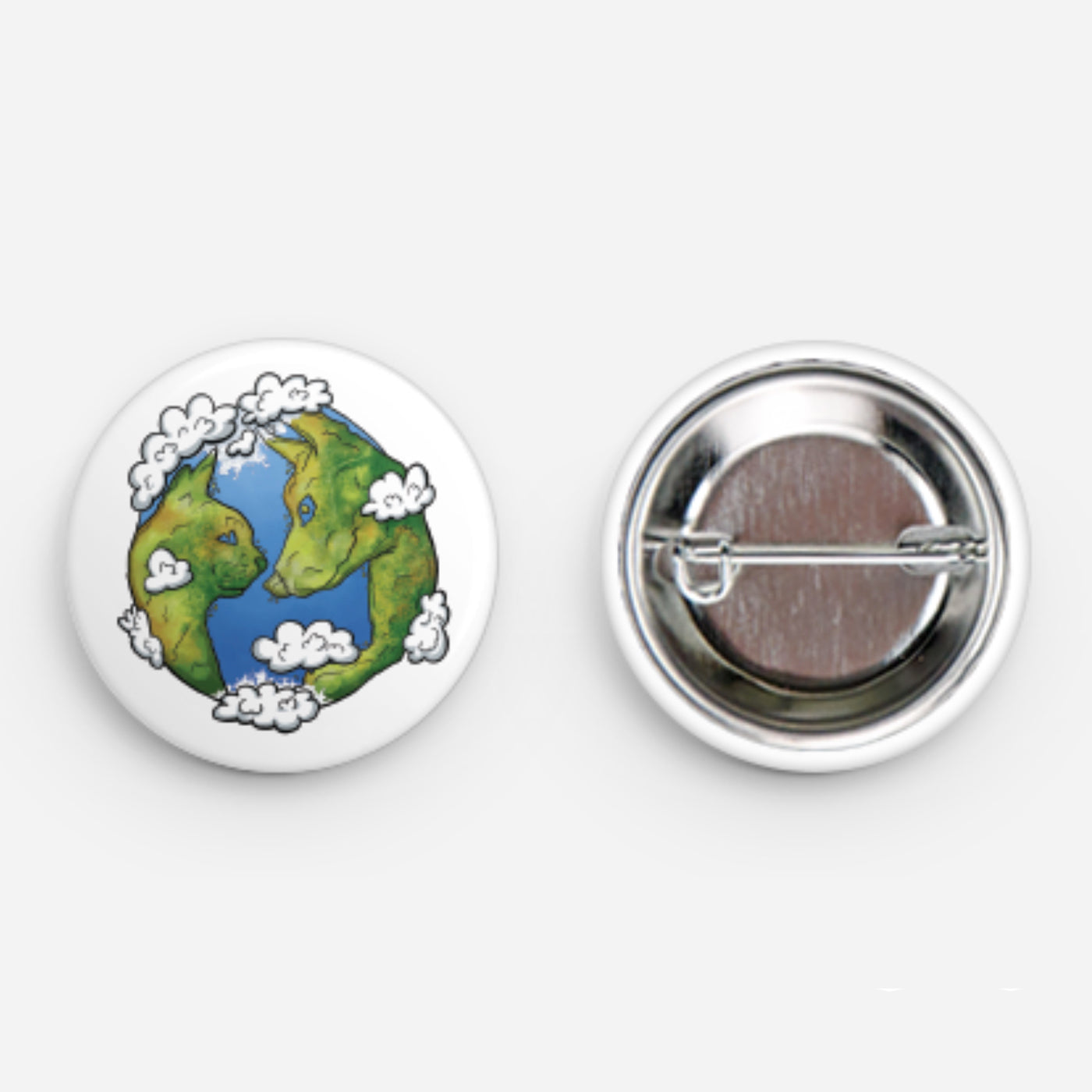 Planet Green Pet Button 1.25""