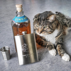 Klaus Whiskey & Whiskers Limited Edition Flask - 8 ounce