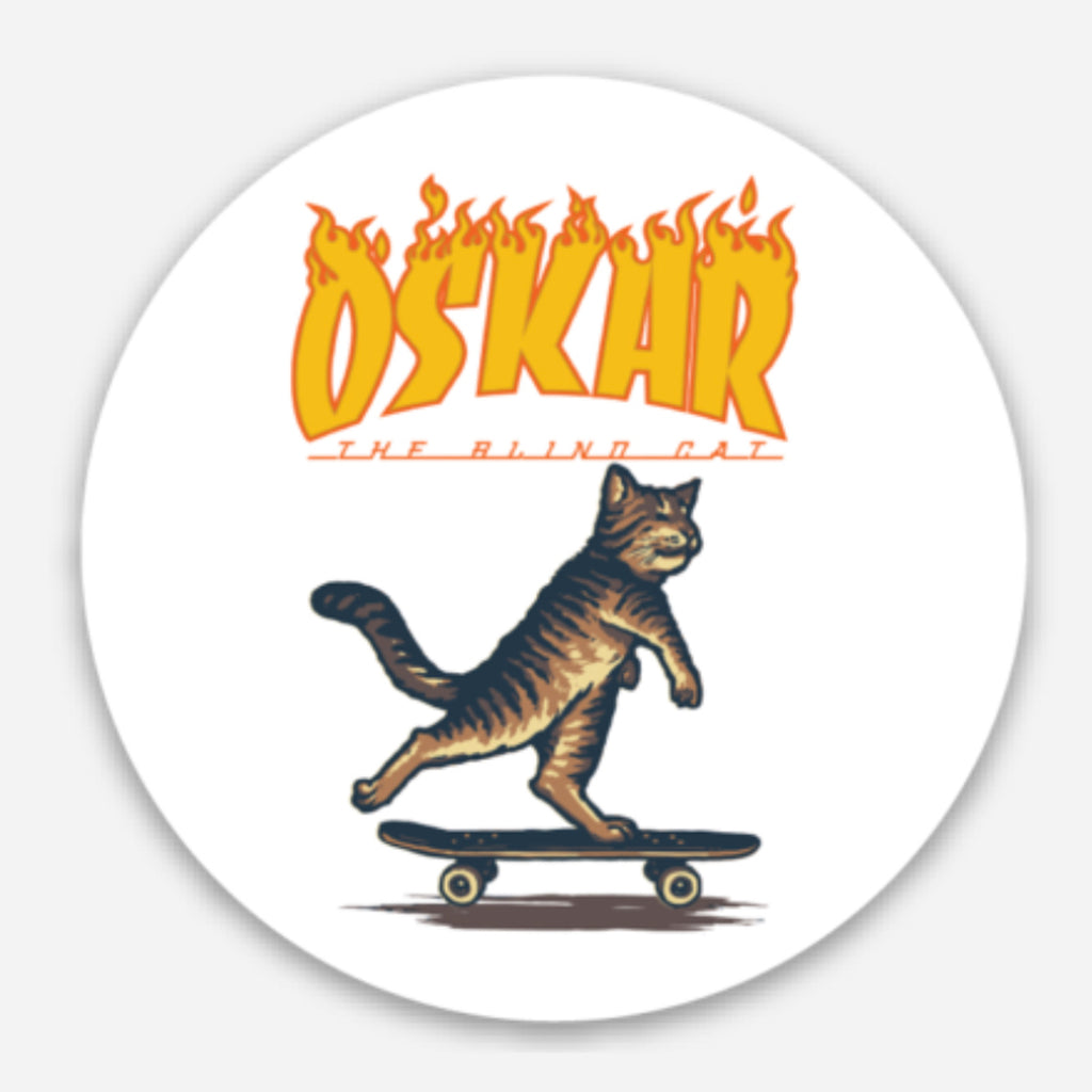 Oskar Never Stop Pushing Sticker