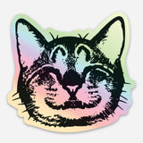 Oskar Smile Holographic Foil Sticker