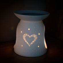 Load image into Gallery viewer, Heart Wax Melt Burner - MadeWithaSmile