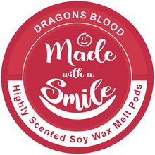 Load image into Gallery viewer, Dragons Blood Soy Wax Melt Pod | Madewithasmile | UK