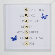 Load image into Gallery viewer, Grandma Scrabble Letter Tile Initials Boxed Frame | MadeWithaSmile