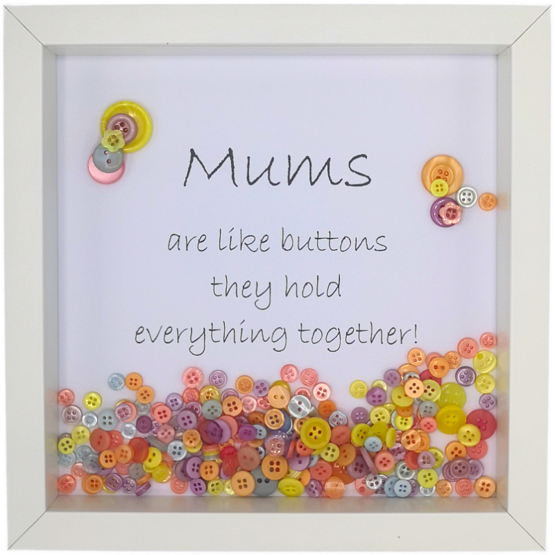 Mums Are Like Buttons (Loose) Boxed Frame | MadeWithaSmile