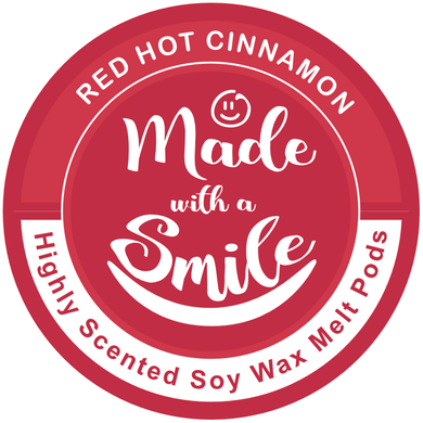 Red Hot Cinnamon Soy Wax Melt Pod | Madewithasmile | UK