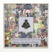 Load image into Gallery viewer, Batman Minifigure DC Comics Boxed Frame | MadeWithaSmile