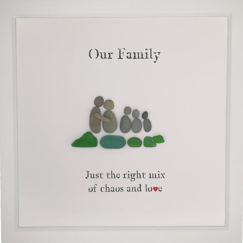 Pebble People Seaglass Family Large Boxed Frame | MadeWithaSmile