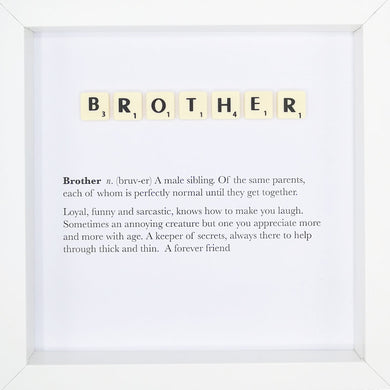 Brother Scrabble Letter Tile Boxed Frame | MadeWithaSmile