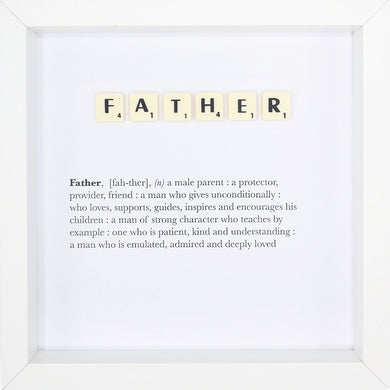 Father Scrabble Letter Tile Boxed Frame | MadeWithaSmile