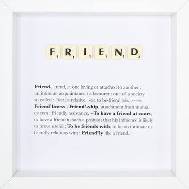 Friend Scrabble Letter Tile Boxed Frame | MadeWithaSmile