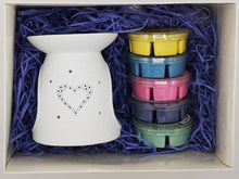 Load image into Gallery viewer, Heart Wax Burner - Luxury Gift Set - MadeWithaSmile