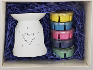 Heart Wax Burner - Luxury Gift Set - MadeWithaSmile