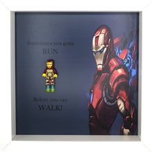 Load image into Gallery viewer, Ironman Minifigure Marvel Comics Boxed Frame | MadeWithaSmile