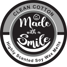 Load image into Gallery viewer, Clean Cotton Soy Wax Melt Pod | MadeWithaSmile | UK