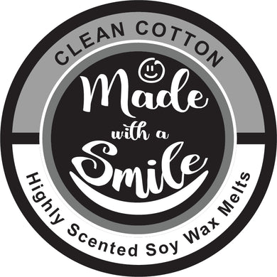 Clean Cotton Soy Wax Melt Pod | MadeWithaSmile | UK