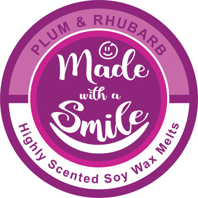 Plum and Rhubarb Soy Wax Melt Pod | MadeWithaSmile | UK
