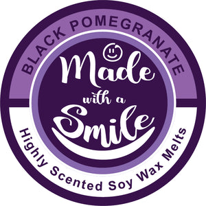 Black Pomegranate Soy Wax Melt Pod - MadeWithaSmile
