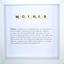 Load image into Gallery viewer, Mother Scrabble Letter Tile Boxed Frame | MadeWithaSmile