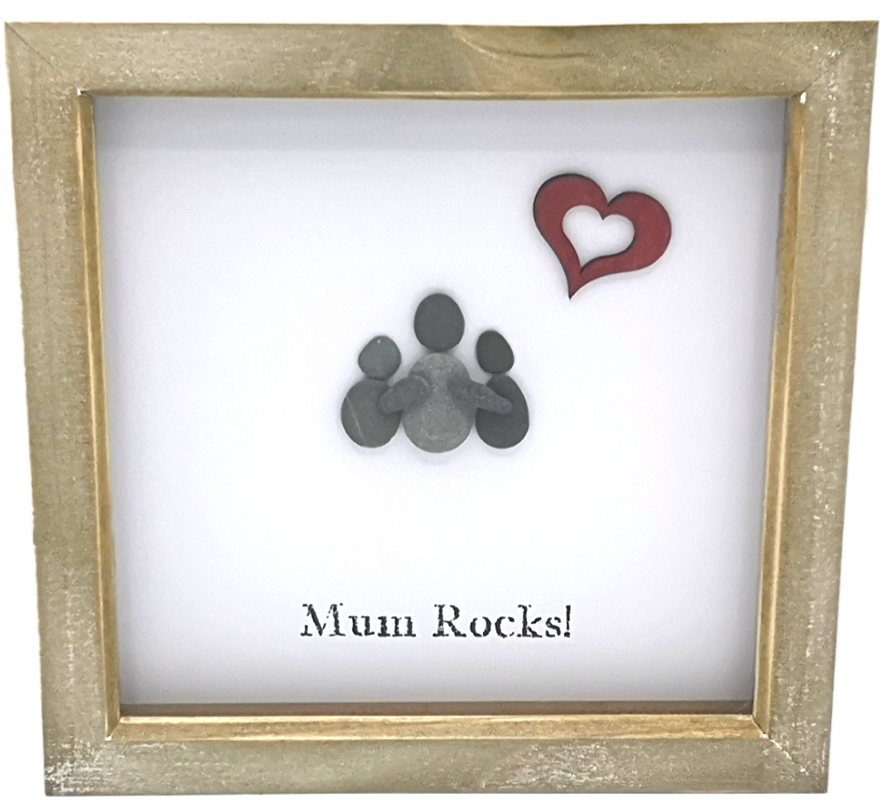 Pebble People Mum Rocks Boxed Frame | MadeWithaSmile
