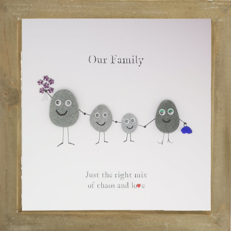 Pebble People Family Boxed Frame | MadeWithaSmile