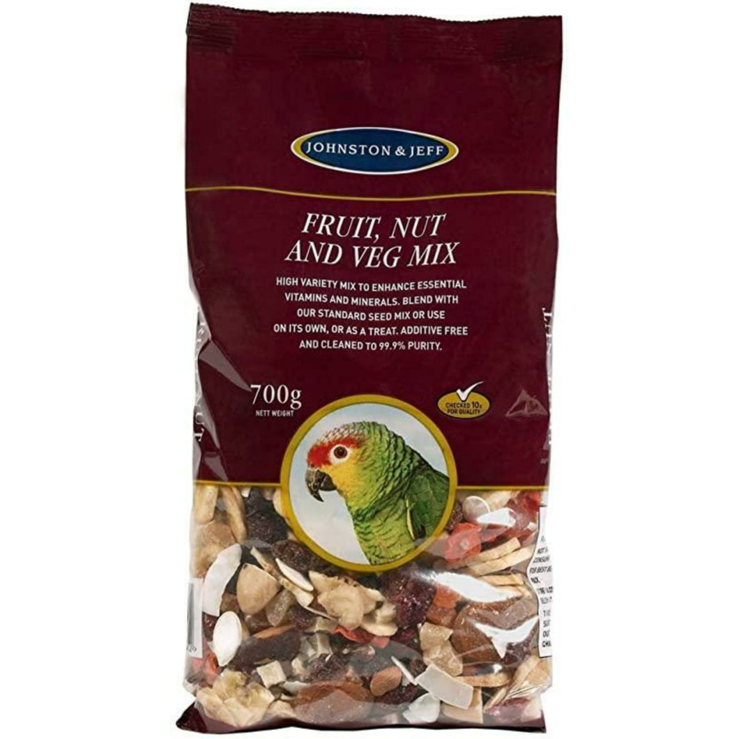 Johnston & Jeff Fruit Nut & Veg Mix 700g (for Parrots) - Littlehampton Exotics