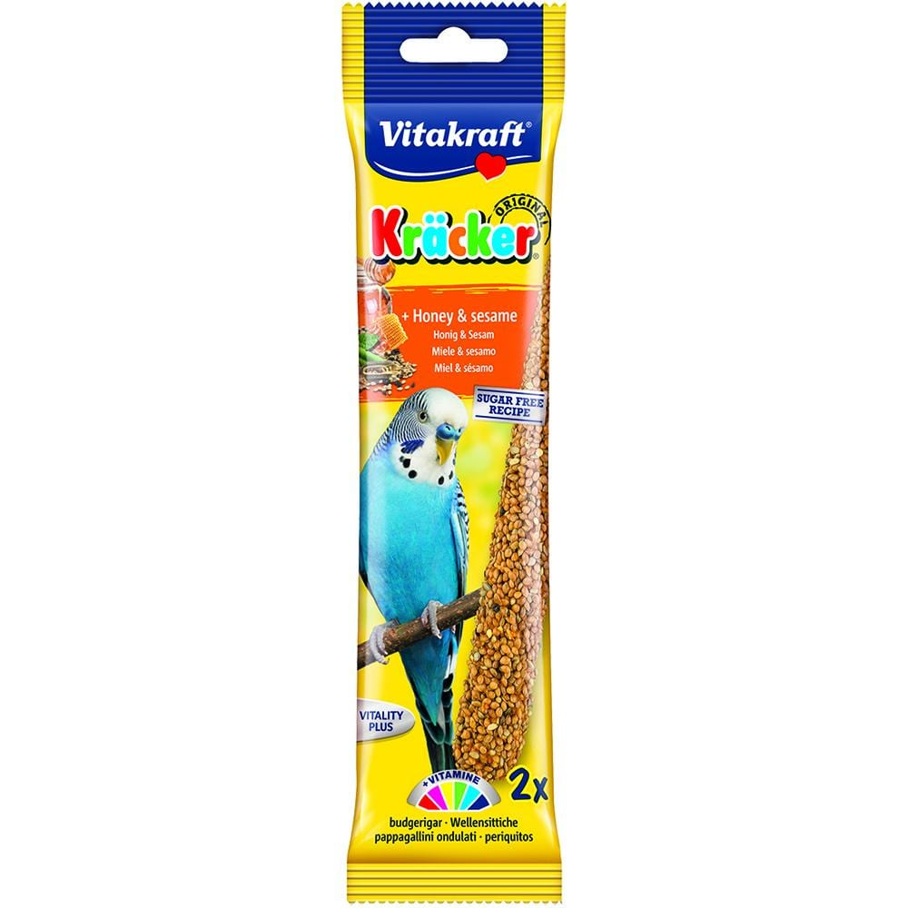 Vitakraft Budgie Kracker 2 Pack - Honey & Sesame - Littlehampton Exotics