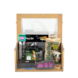 HabiStat Leopard Gecko Starter Kit in Oak - Littlehampton Exotics