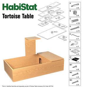 HabiStat Tortoise Table Kit in Oak - Littlehampton Exotics