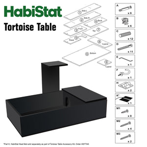 HabiStat Tortoise Table Kit in Black - Littlehampton Exotics