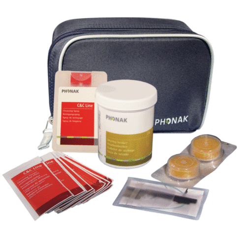 Clean and Care Kit for In-the-ear and Slimtube/RIC hearing aids