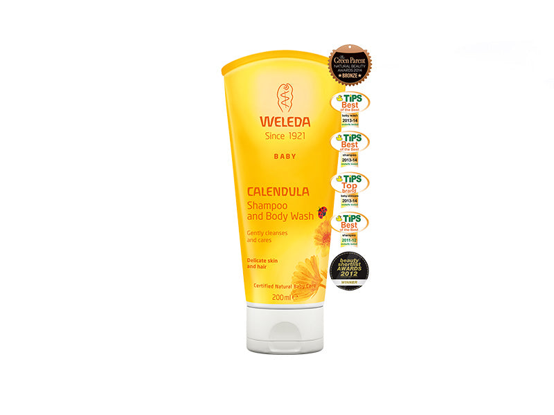 Calendula Shampoo and Body Wash 200ml - Weleda