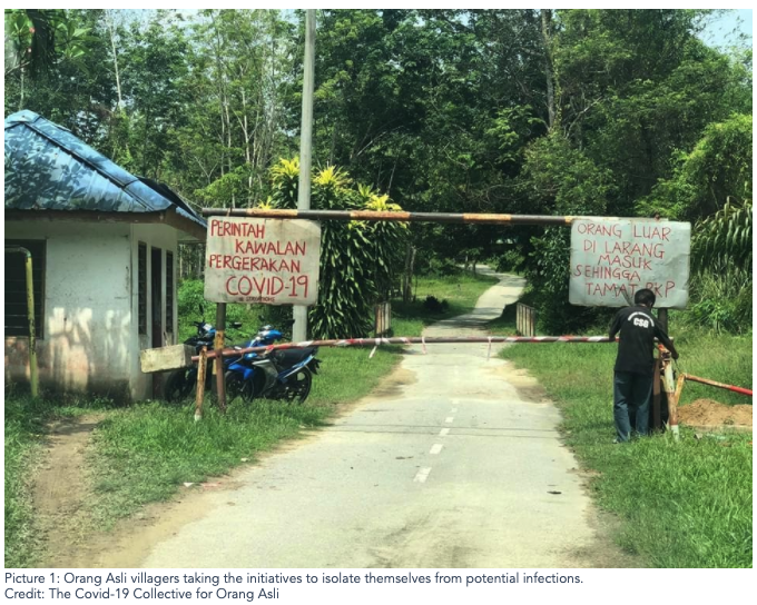 Orang Asli villagers taking the initiatives to isolate themselves from potential infections.