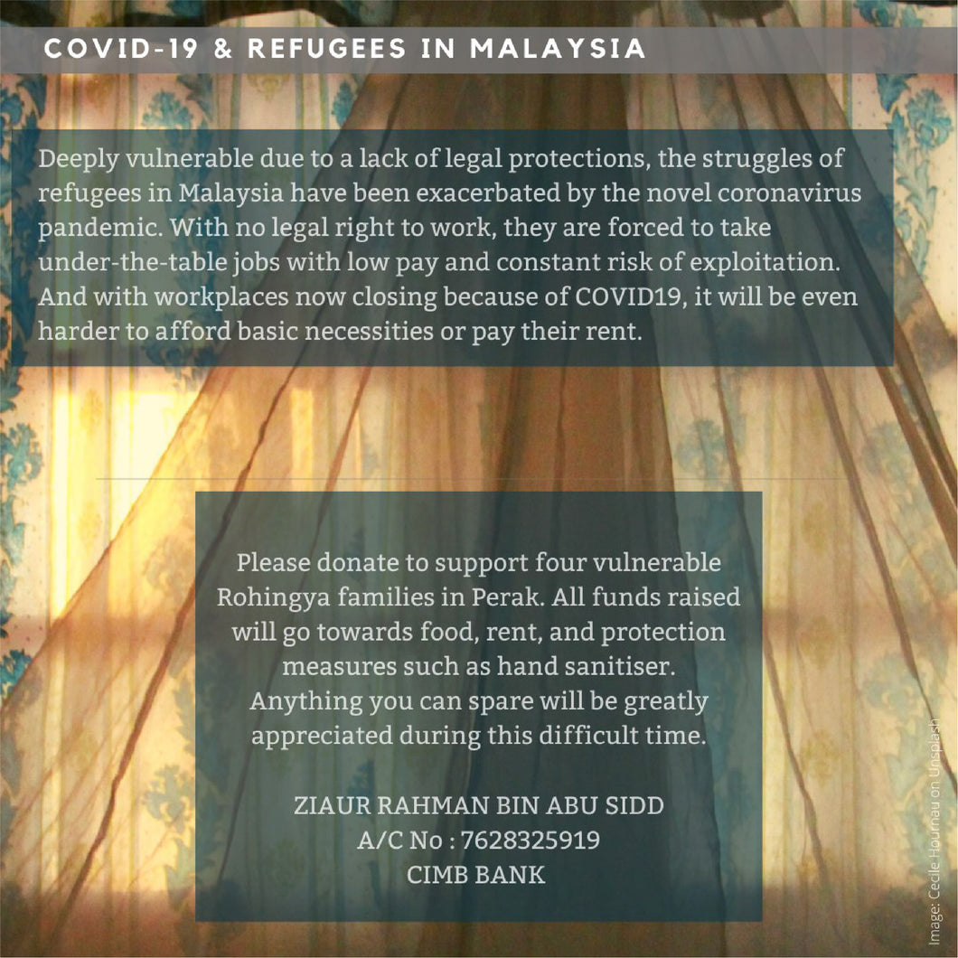 Covid-19 Fund for Refugees in Perak