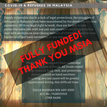 Load image into Gallery viewer, Covid-19 Fund for Refugees in Perak