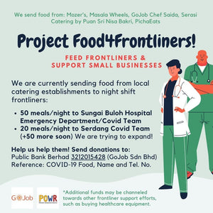 Project Food4Frontliners (by ABIM & GoJob)