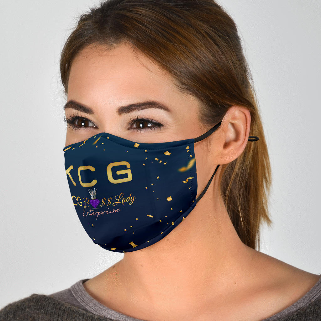 KCG Boss Lady Gold Dots Face Mask