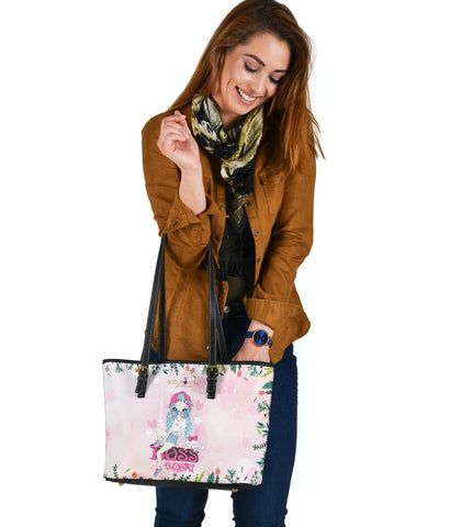 Boss Lady with A Lovely Cat Small Tote Bag