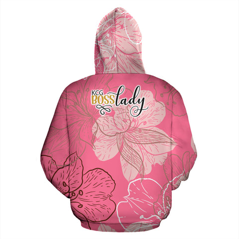 Red Flowers  Boss Lady Hoodie