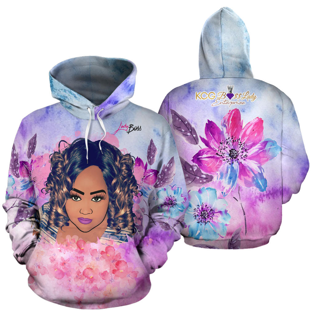 Abstract Colors Boss Lady Hoodie