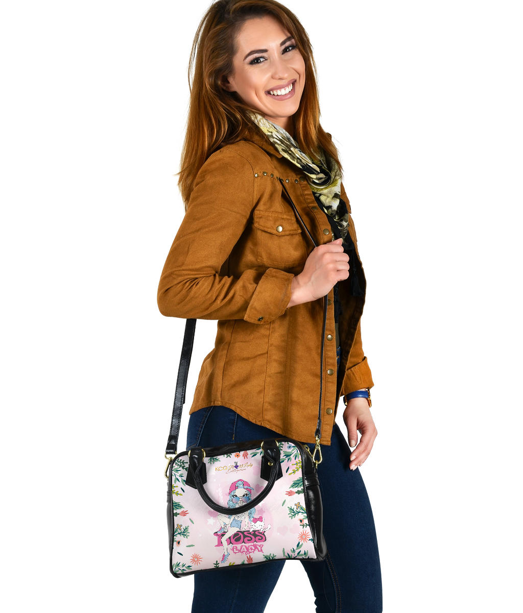 Boss Lady With A Lovely Cat Shoulder Handbag