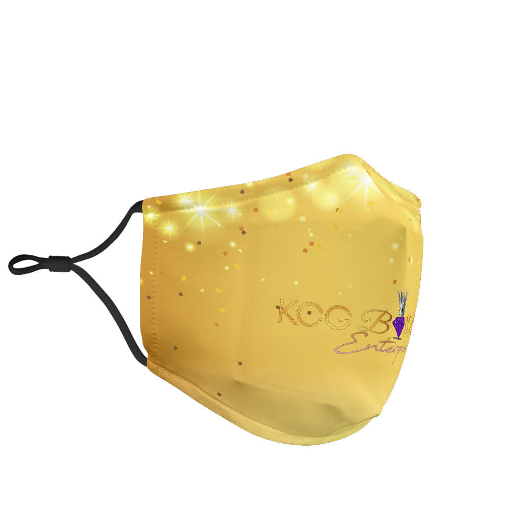 Gold Background Face Mask