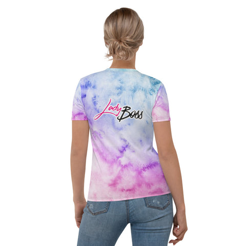 Abstract Colors Boss Lady Women's T-shirt