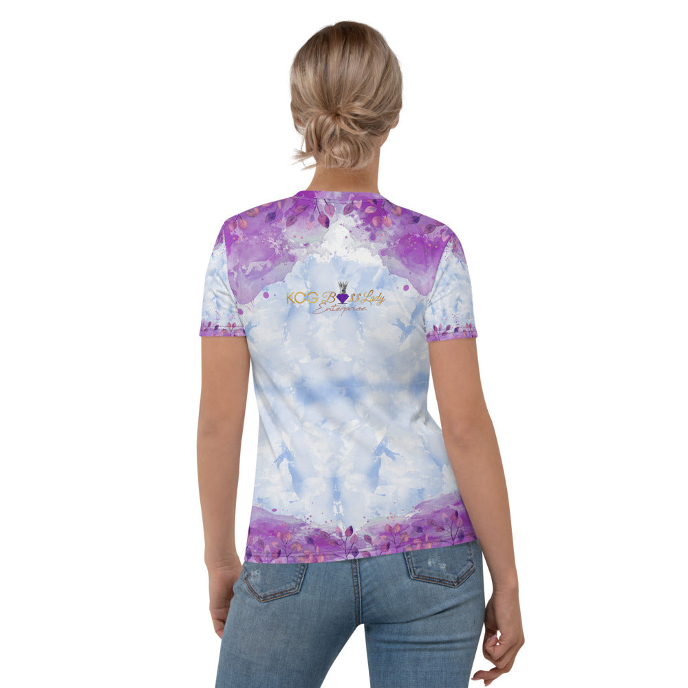 Purple Flower Lady Women's T-shirt