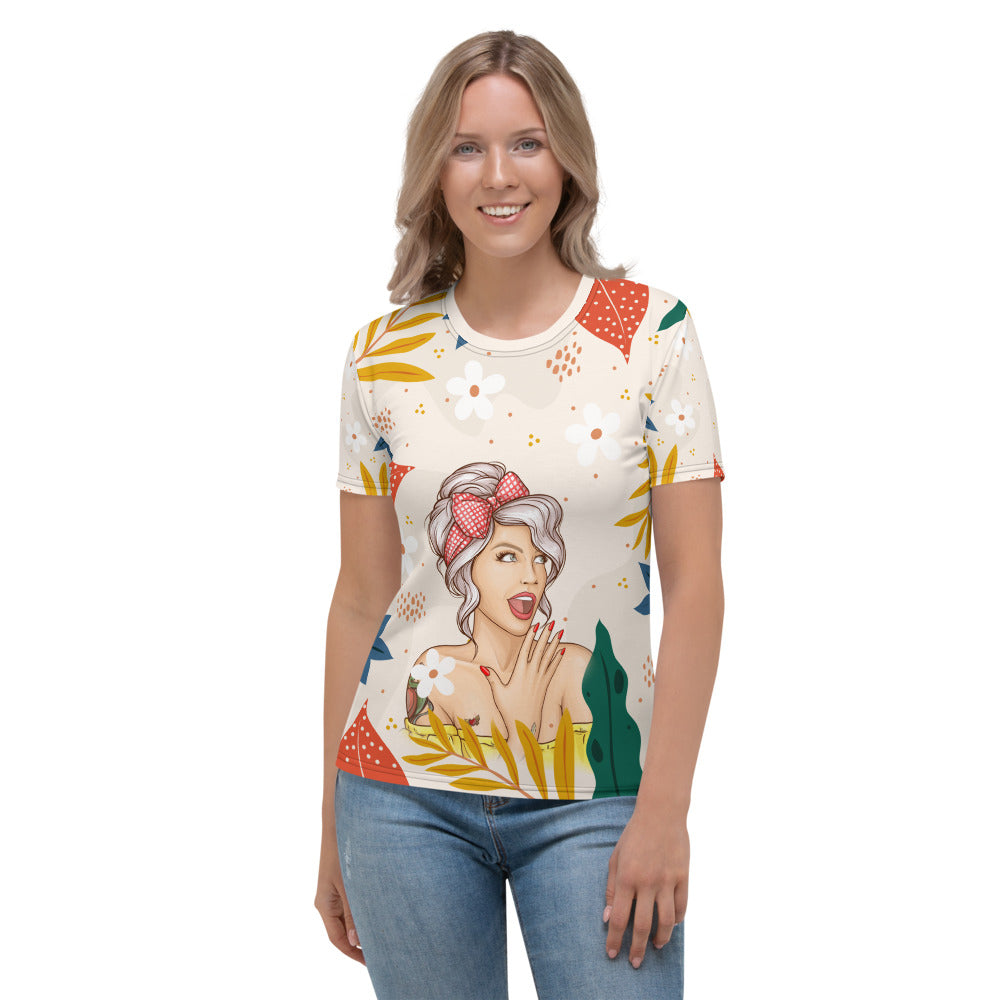 Smiling Boss Lady Women's T-shirt