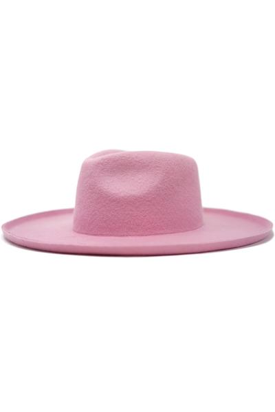Lenny Wide Brim Rancher Hat by Olive & Pique™ (Blush) - BLK PYTHON BOUTIQUE