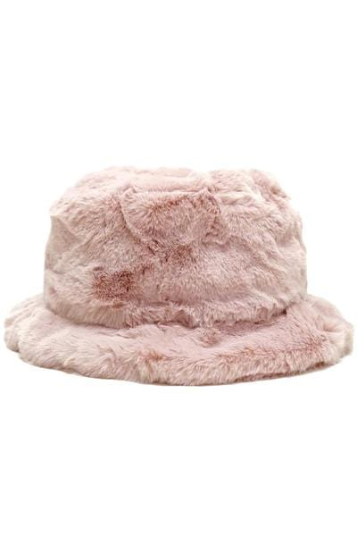 Zola Faux Fur Bucket Hat by Olive & Pique™️ - BLK PYTHON BOUTIQUE